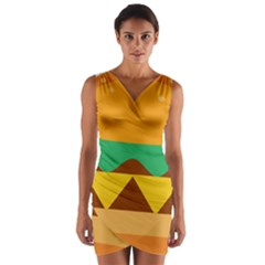 Hamburger Bread Food Cheese Wrap Front Bodycon Dress
