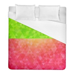 Colorful Abstract Triangles Pattern  Duvet Cover (full/ Double Size) by TastefulDesigns