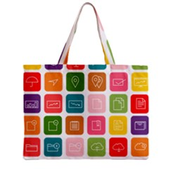 Icons Vector Zipper Mini Tote Bag