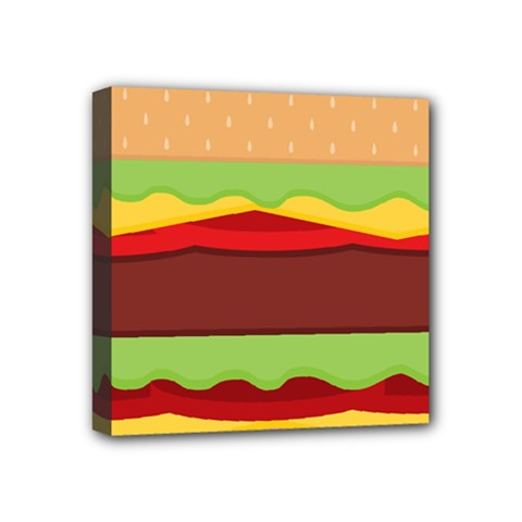Vector Burger Time Background Mini Canvas 4  X 4  by Simbadda