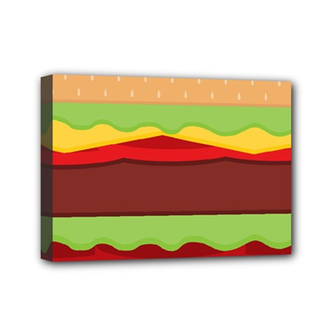 Vector Burger Time Background Mini Canvas 7  X 5  by Simbadda
