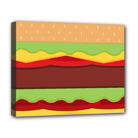 Vector Burger Time Background Deluxe Canvas 20  X 16