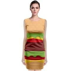 Vector Burger Time Background Classic Sleeveless Midi Dress by Simbadda