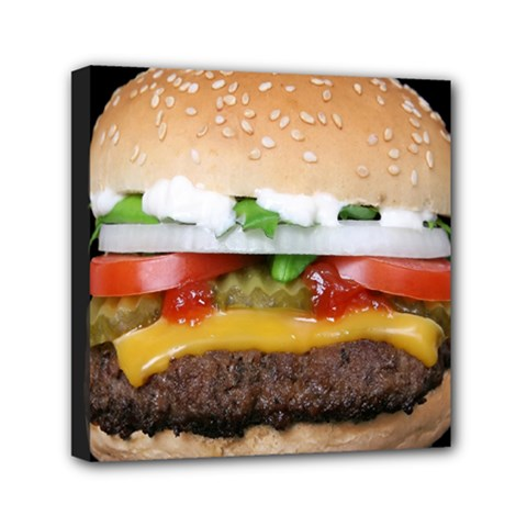Abstract Barbeque Bbq Beauty Beef Mini Canvas 6  X 6  by Simbadda