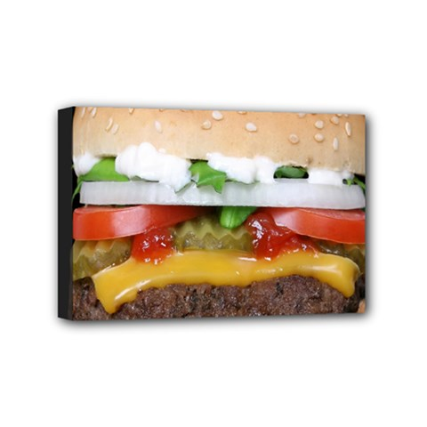 Abstract Barbeque Bbq Beauty Beef Mini Canvas 6  X 4  by Simbadda