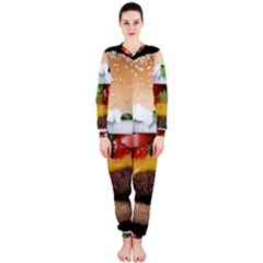 Abstract Barbeque Bbq Beauty Beef Onepiece Jumpsuit (ladies)  by Simbadda