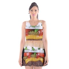 Abstract Barbeque Bbq Beauty Beef Scoop Neck Skater Dress by Simbadda