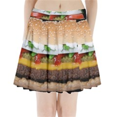 Abstract Barbeque Bbq Beauty Beef Pleated Mini Skirt by Simbadda