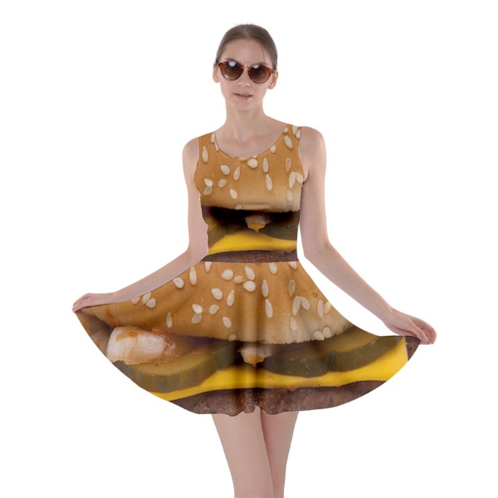 Cheeseburger On Sesame Seed Bun Skater Dress