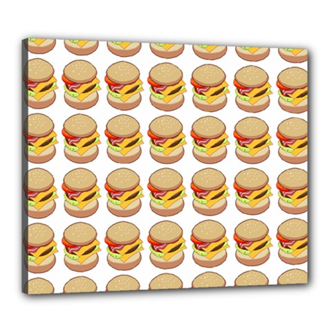 Hamburger Pattern Canvas 24  X 20  by Simbadda