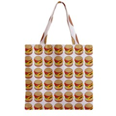 Hamburger Pattern Grocery Tote Bag by Simbadda