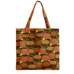 Burger Double Border Grocery Tote Bag by Simbadda