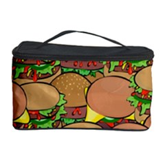 Burger Double Border Cosmetic Storage Case by Simbadda