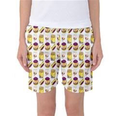 Hamburger And Fries Women s Basketball Shorts
