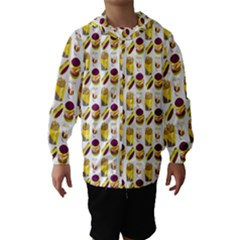 Hamburger And Fries Hooded Wind Breaker (kids) by Simbadda