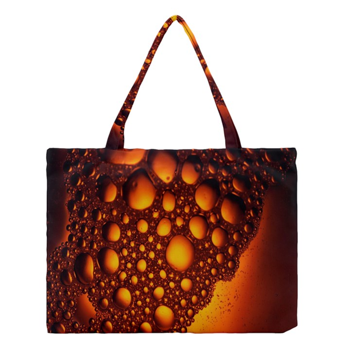 Bubbles Abstract Art Gold Golden Medium Tote Bag