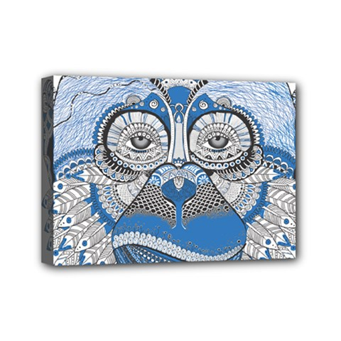 Pattern Monkey New Year S Eve Mini Canvas 7  X 5  by Simbadda