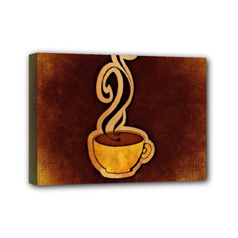 Coffee Drink Abstract Mini Canvas 7  X 5  by Simbadda