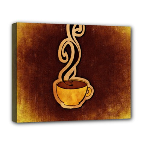 Coffee Drink Abstract Deluxe Canvas 20  X 16   by Simbadda