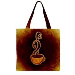 Coffee Drink Abstract Zipper Grocery Tote Bag by Simbadda