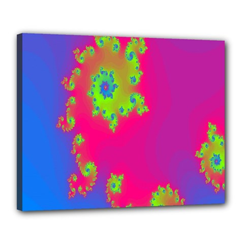 Digital Fractal Spiral Canvas 20  X 16  by Simbadda