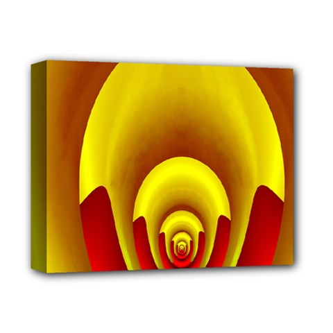 Red Gold Fractal Hypocycloid Deluxe Canvas 14  X 11  by Simbadda