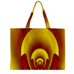 Red Gold Fractal Hypocycloid Zipper Mini Tote Bag by Simbadda