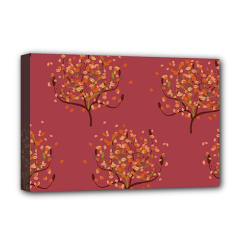 Beautiful Tree Background Pattern Deluxe Canvas 18  X 12   by Simbadda