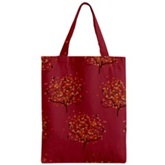 Beautiful Tree Background Pattern Zipper Classic Tote Bag