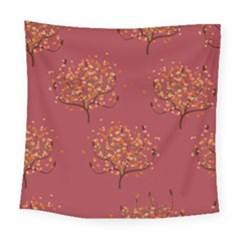 Beautiful Tree Background Pattern Square Tapestry (large) by Simbadda