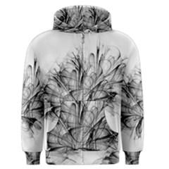 High Detailed Resembling A Flower Fractalblack Flower Men s Zipper Hoodie