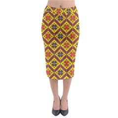 Folklore Midi Pencil Skirt by Valentinaart