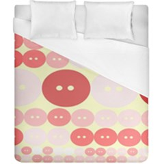 Buttons Pink Red Circle Scrapboo Duvet Cover (california King Size) by Alisyart