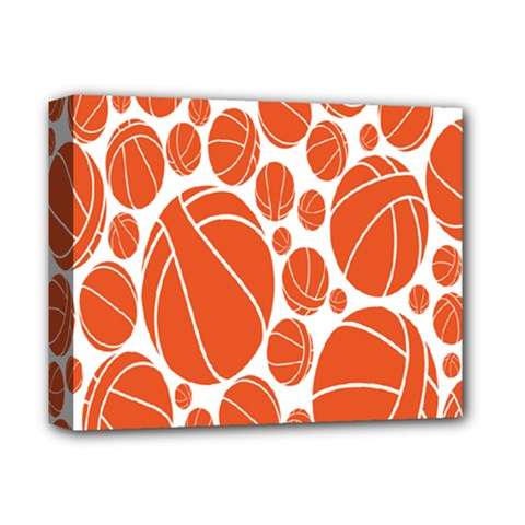 Basketball Ball Orange Sport Deluxe Canvas 14  X 11  by Alisyart