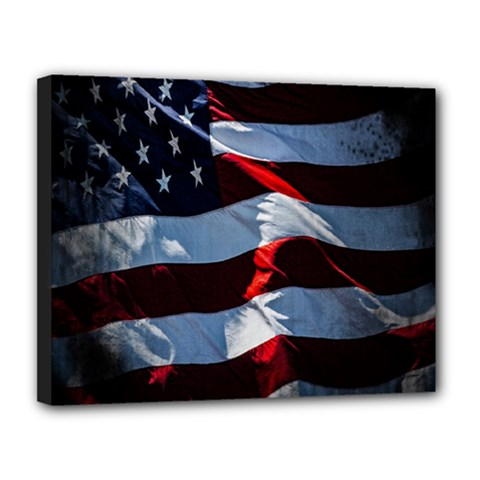 Grunge American Flag Background Canvas 14  X 11  by Simbadda