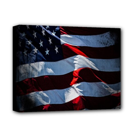 Grunge American Flag Background Deluxe Canvas 14  X 11  by Simbadda