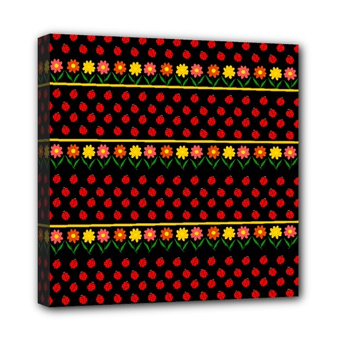 Ladybugs And Flowers Mini Canvas 8  X 8  by Valentinaart