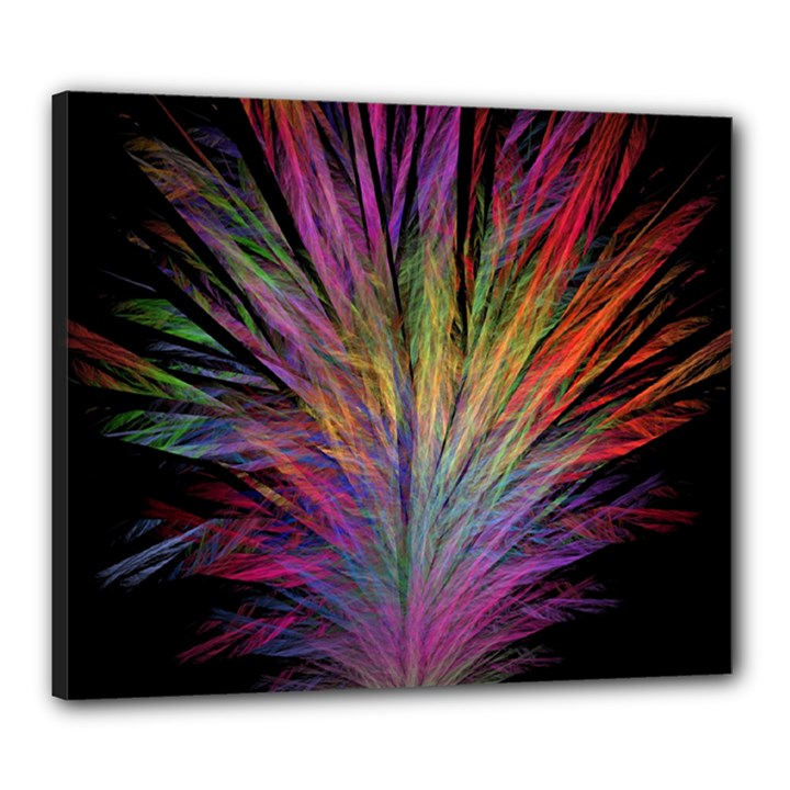 Fractal In Many Different Colours Canvas 24  x 20