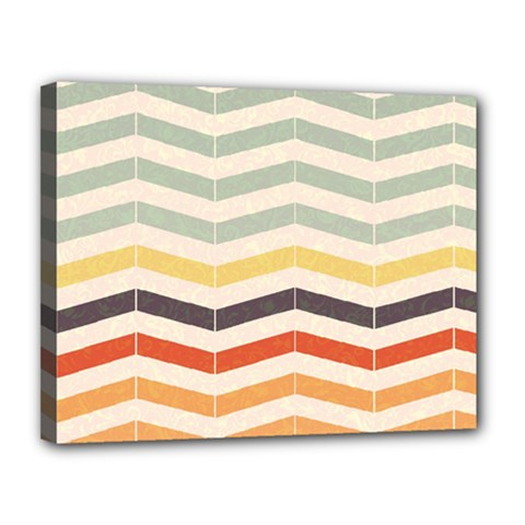 Abstract Vintage Lines Canvas 14  X 11  by Simbadda