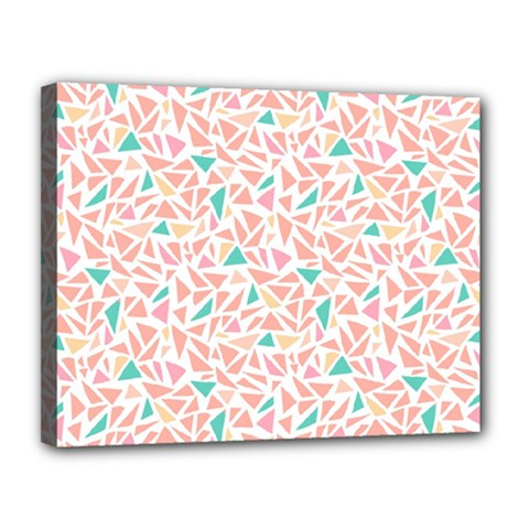Geometric Abstract Triangles Background Canvas 14  X 11  by Simbadda