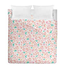Geometric Abstract Triangles Background Duvet Cover Double Side (full/ Double Size) by Simbadda