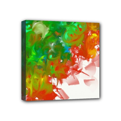 Digitally Painted Messy Paint Background Texture Mini Canvas 4  X 4  by Simbadda
