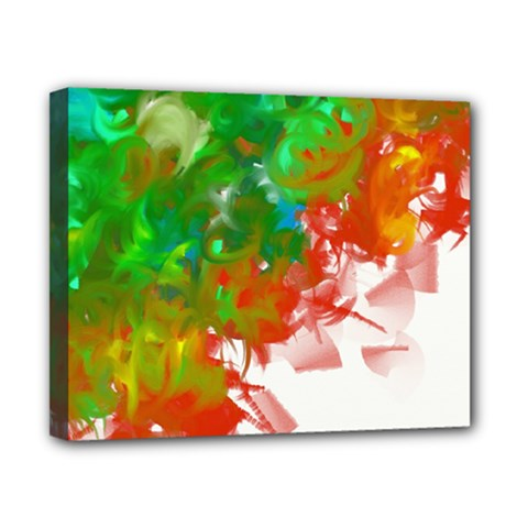 Digitally Painted Messy Paint Background Texture Canvas 10  X 8  by Simbadda