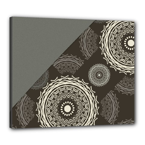 Abstract Mandala Background Pattern Canvas 24  X 20  by Simbadda