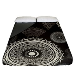 Abstract Mandala Background Pattern Fitted Sheet (queen Size) by Simbadda