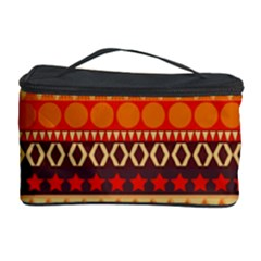 Abstract Lines Seamless Pattern Cosmetic Storage Case by Simbadda