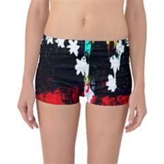 Grunge Abstract In Dark Boyleg Bikini Bottoms by Simbadda