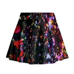Lit Christmas Trees Prelit Creating A Colorful Pattern Mini Flare Skirt