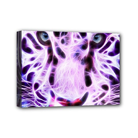 Fractal Wire White Tiger Mini Canvas 7  X 5  by Simbadda