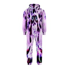 Fractal Wire White Tiger Hooded Jumpsuit (kids)